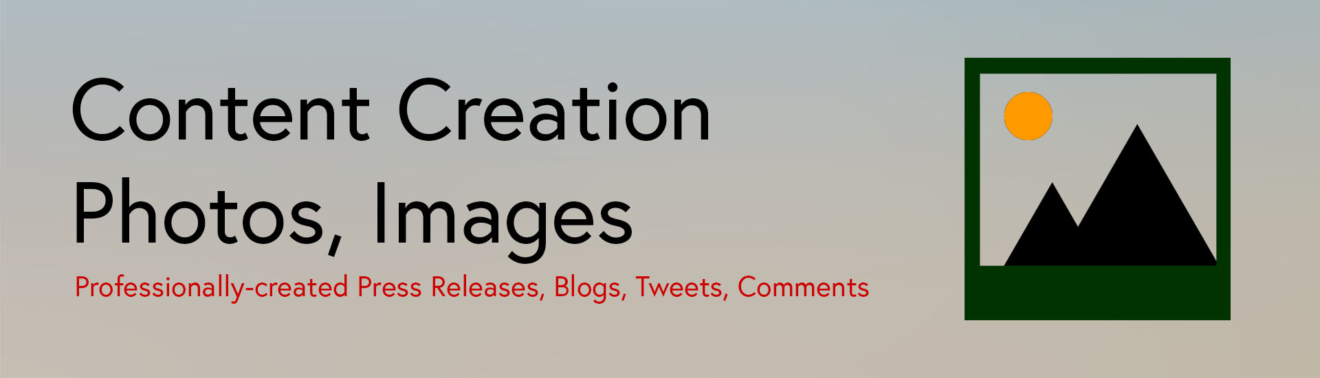 Content Creation - Photos, Images
