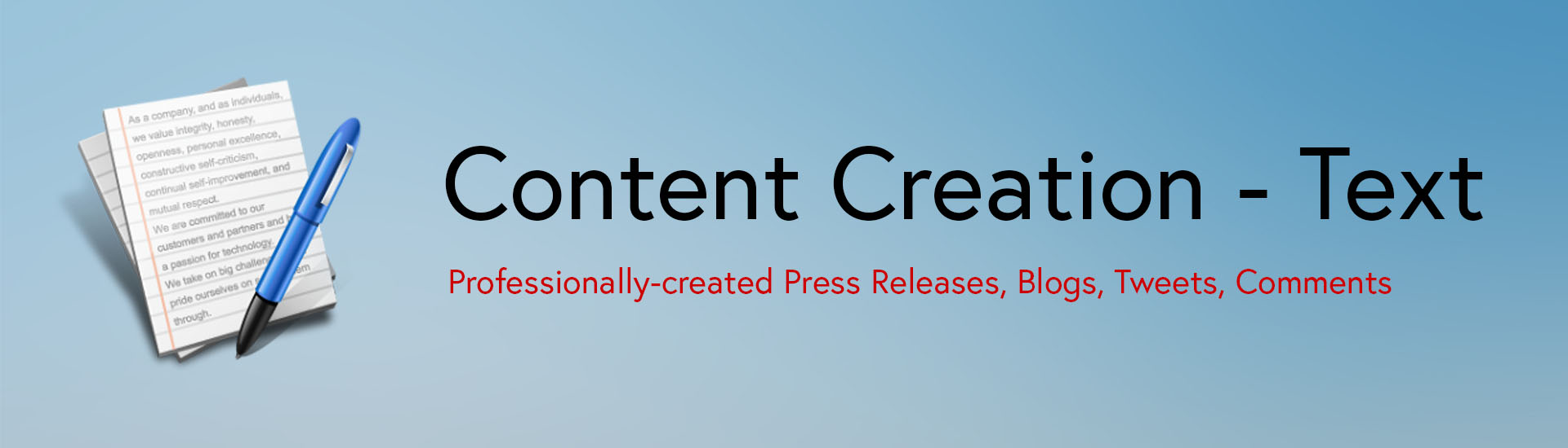 Content Creation - Text