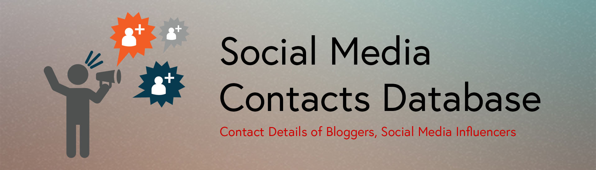 Social  Media Contacts Database
