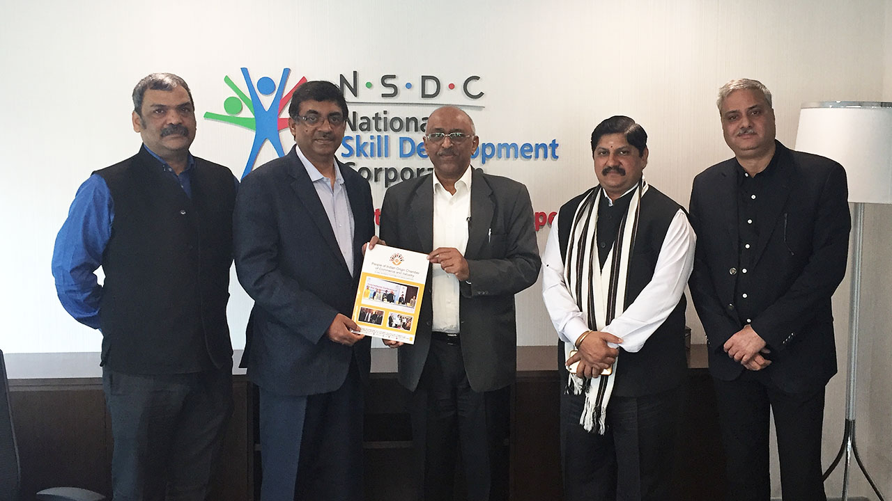 Meet with the officials of NSDC